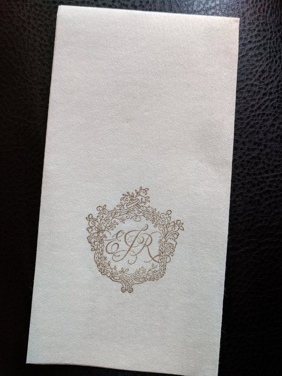 Personalized Guest Towels Serviettes Napkins Super Soft Linen