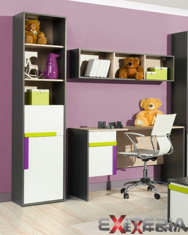 Moderná detská izba pre chlapca aj pre dievča  Kids desk - workplace