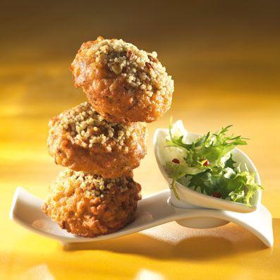 Petits beignets de Céréales Méditerranéennes tomates / ricotta cuisinés avec des Céréales Méditerranéennes TIPIAK. Pour 6 personnes -  Préparation : 15 min - Cuisson : 5 min.