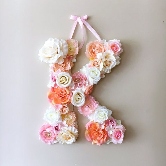 Flower Letters, Floral Letters, Vintage wedding decor / Personalized nursery…
