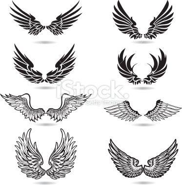 Wings Illustration Royalty Free Stock Vector Art Illustration