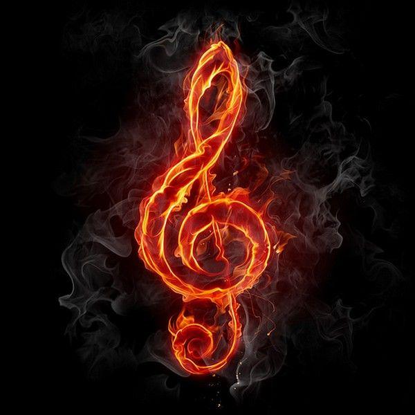 картинки скрипичный ключ в огне мотивы