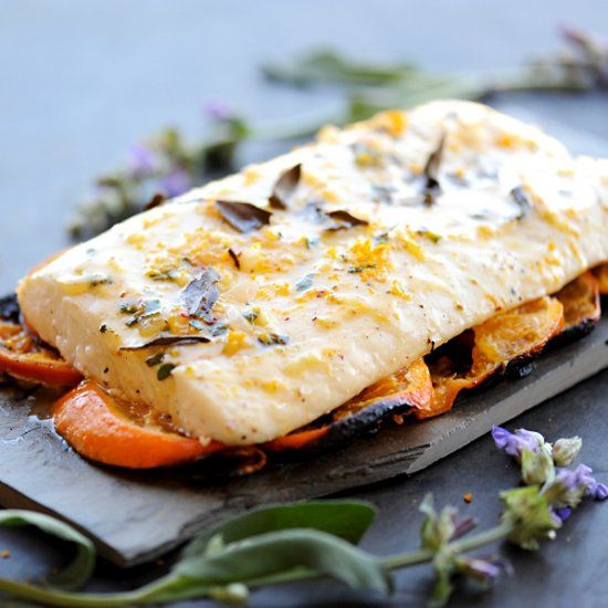 Forget cedar planks. Rest your fish filets on sweet and tangy tangerine slices to create this buttery Grilled Citrus Herb Halibut.