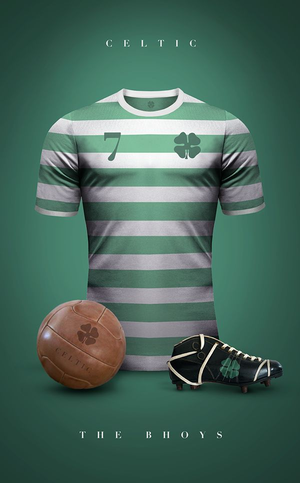 Vintage Clubs II on Behance - Emilio Sansolini - Graphic Design Poster - Celtic - Bhoys