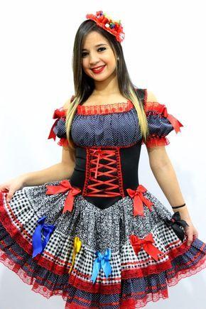 vestido de festa junina junino adulto 38 ao 64 plus size