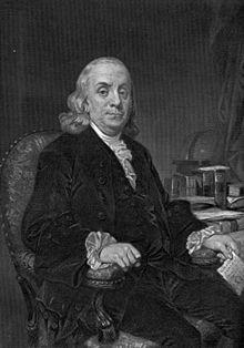 Benjamin Franklin - Wikipedia, den frie encyklopædi