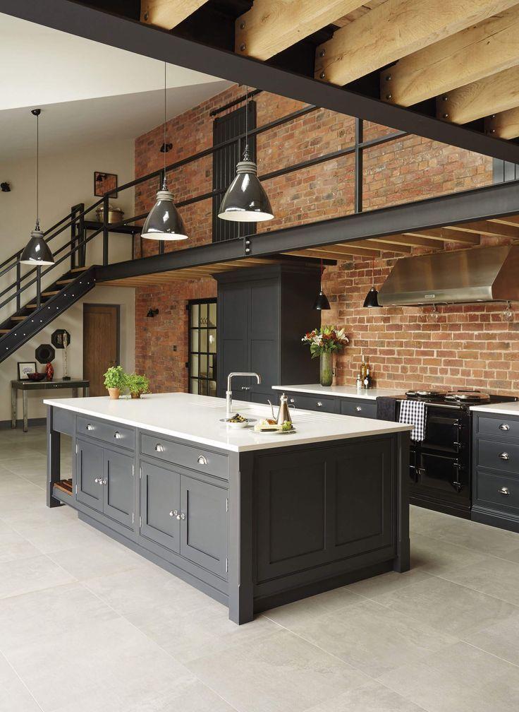 Industrial Style Shaker Kuche Moderne Kuchenideen Haus Interieu Design Haus Design