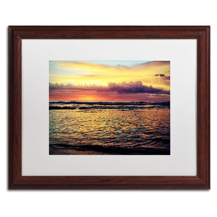 Trademark Fine Art Morning Glory Framed Art by Beata Czyzowska Young Brown Frame/White Matte - BC0131-W1114MF