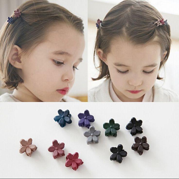 Korean Waves Cute Children Hair Ornaments Scrub Mini Flower Hairpin Clip Korean Version Jewelry
