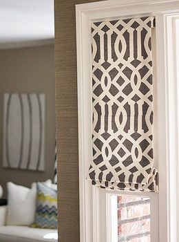 Custom Roman Shades look great on French doors