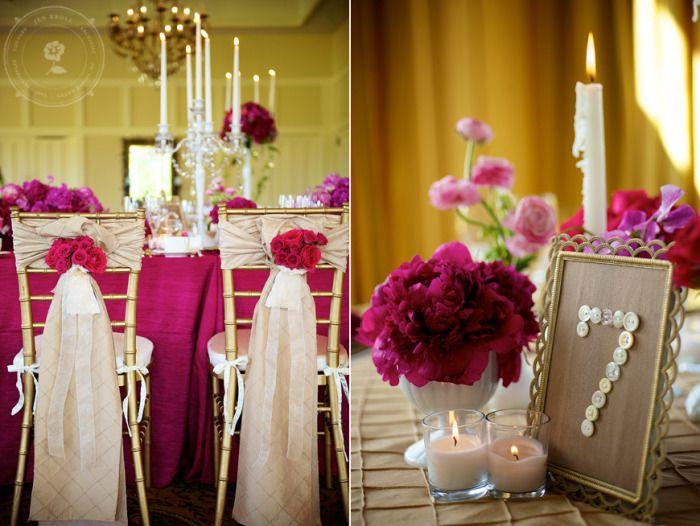 Fuchsia and taupe wedding: Bold Wedding Color Combo