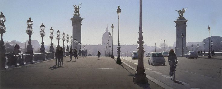 Le jogger et le joint de dilatation du Pont Alexandre III