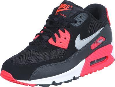 Nike Air Max 90 LE Schuhe schwarz grau neon
