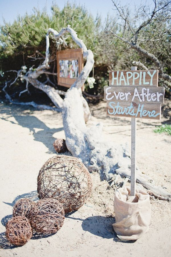 Happily Ever After Starts Here-- another cute sign idea