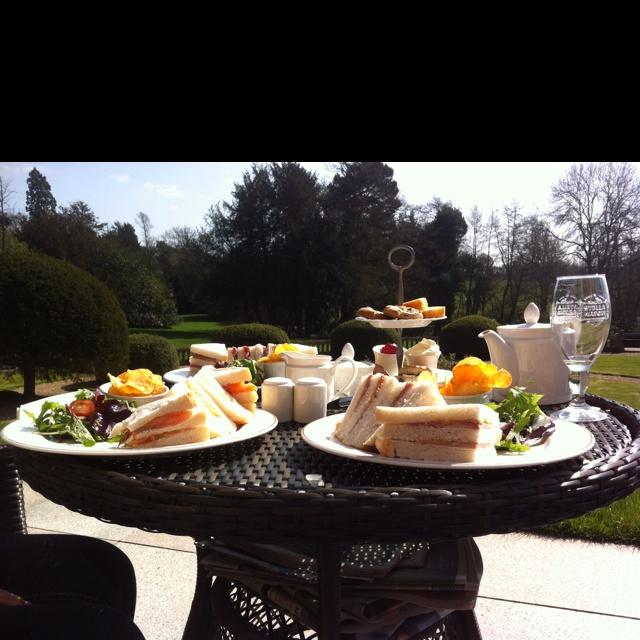 Afternoon tea at Wroxall Abbey