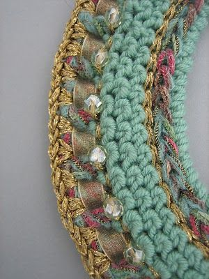 Dollybob: Crochet jewellery ♡ Teresa Restegui http://www.pinterest.com/teretegui/ ♡