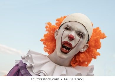 #Portrait #of #a  Portrait of a guy in the image of a clown with sharp teeth on ...