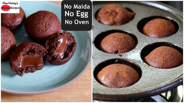 Mini Choco Lava Cake - Eggless, Without Oven, Without ...