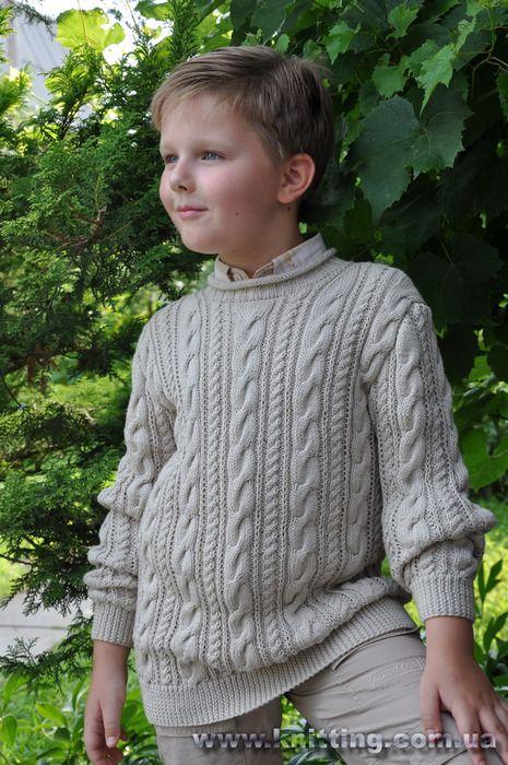 Свитер для мальчика с переплетениями. Обсуждение на LiveInternet - Российский Сервис Онлайн-Дневников