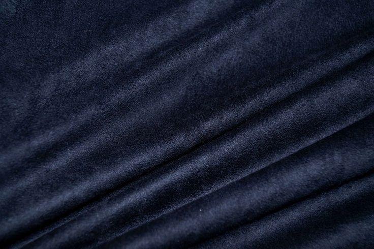 NB16 8096-008 Tricot suedine donkerblauw