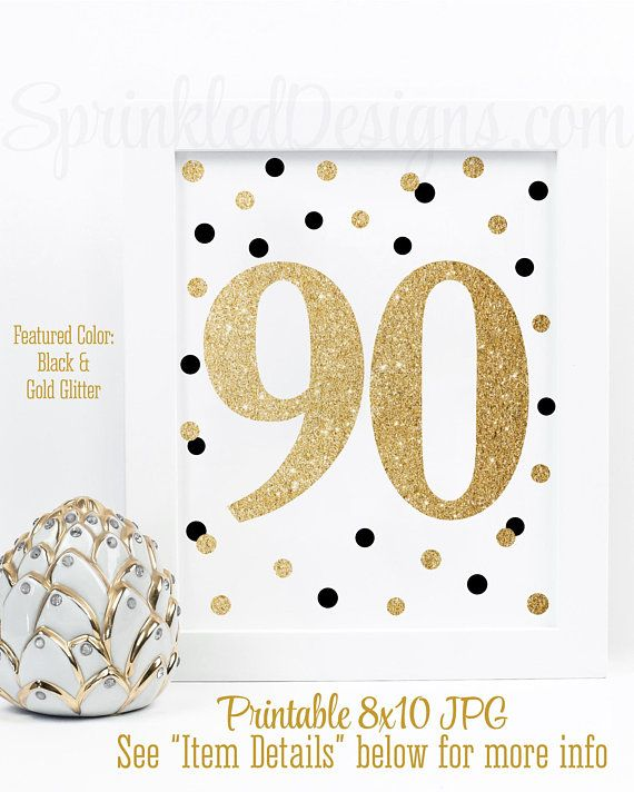 90th Birthday Party Sign