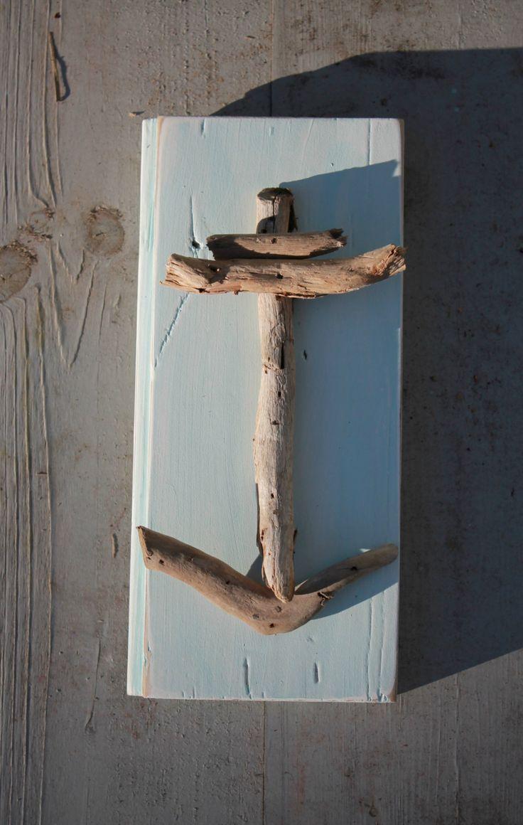 Driftwood Anchor on Reclaimed Wood. $16.00, via Etsy.