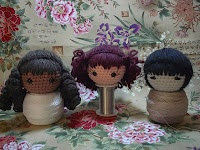 Crocheted doll wigs