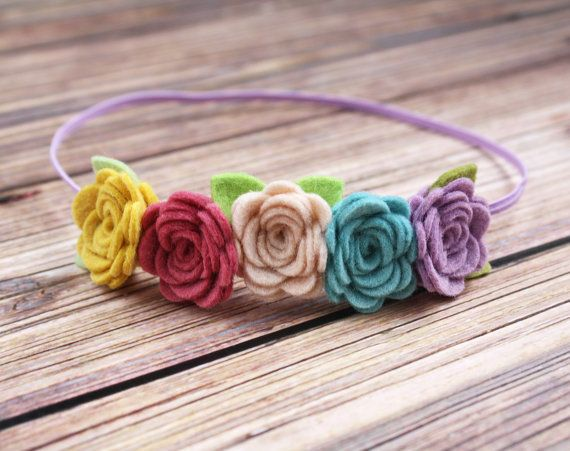 Felt Flower Headband  Mini flower crown