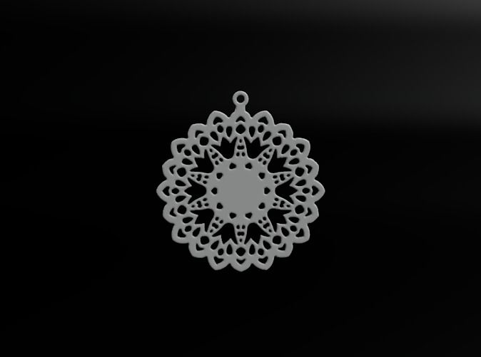 Design for earring - SK0026B by vanca - 3D printed jewelry - bizhuteri