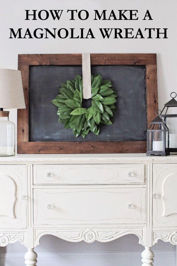 How To Make A Magnolia Wreath Magnolia Wreathmagnolia Home Decormagnolia