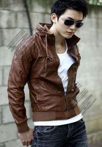 Model Jaket Kulit Korean Style; Kode: A-028
