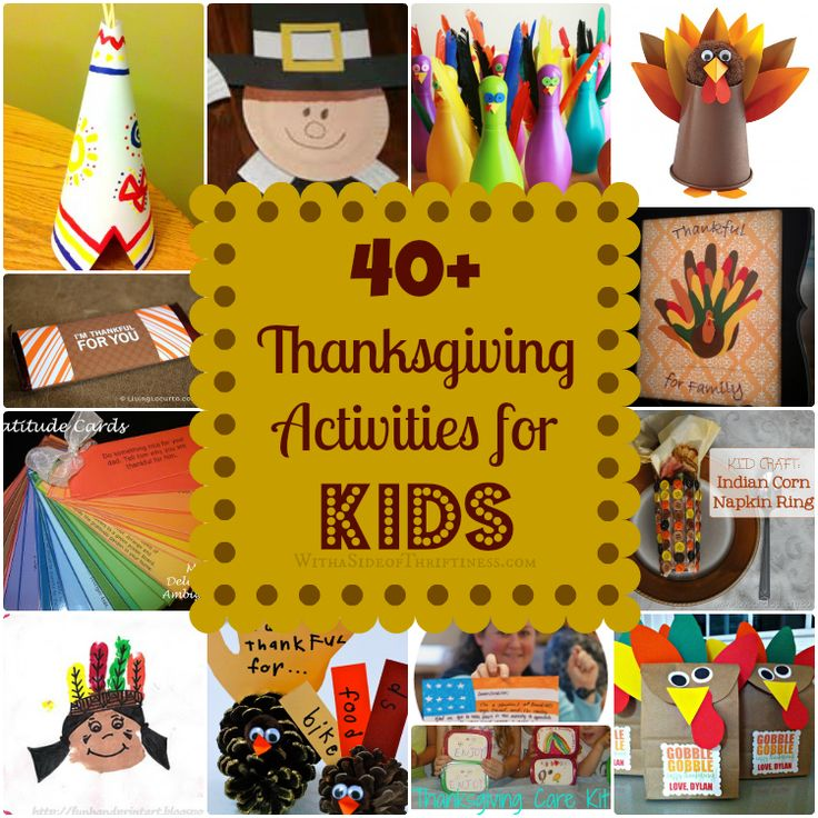 Thanksgiving themed kid friendly crafts roundup! 40+ of THE BEST Thanksgiving Activities for Kids from around the blog-o-sphere!
