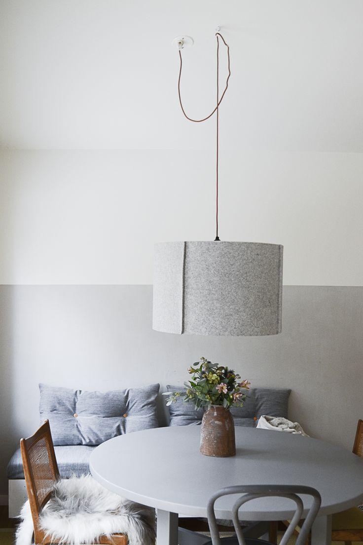 DIY: Klä in lampskärmen i filt och få en helt ny lampa. | DIY Mormorsglamour