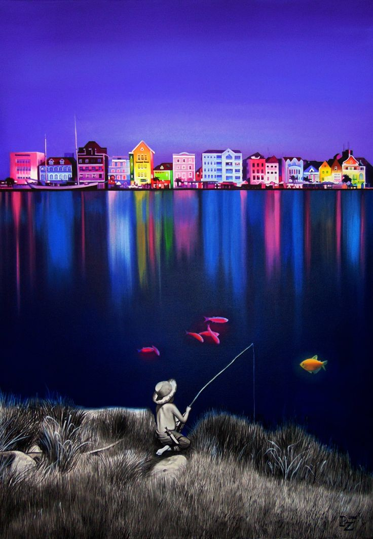 Jezioro osobliwości, wymiary: 100,0 cm. x 70,0 cm. technika: akryl, płótno / 2016 
