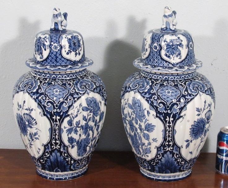 Delft Mokkum Ginger Jars