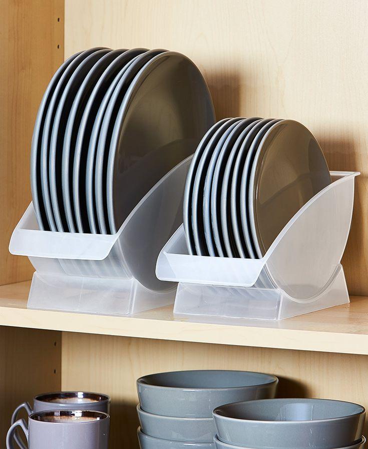Vertical Plate Racks for Cabinet en 2020 | Rangement pour assiettes, Rangement cuisine, Astuce ...