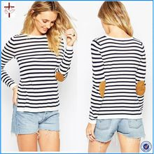 OEM 2016 PETITE Jumper In Stripe With Oval Tan Suede Elbow Patch  Best Seller follow this link http://shopingayo.space