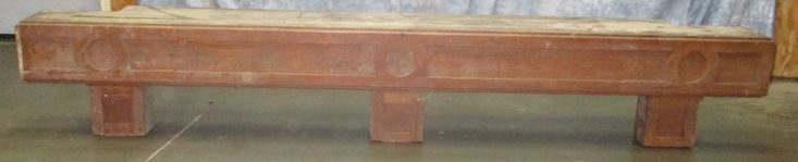"""8' 2"""" Wooden Fireplace Mantle Shelf Architectural Salvage Element Vintage, Fireplace Mantle, Wooden Mantle, Architectural Salvage by TheOldGrainery on Etsy"""