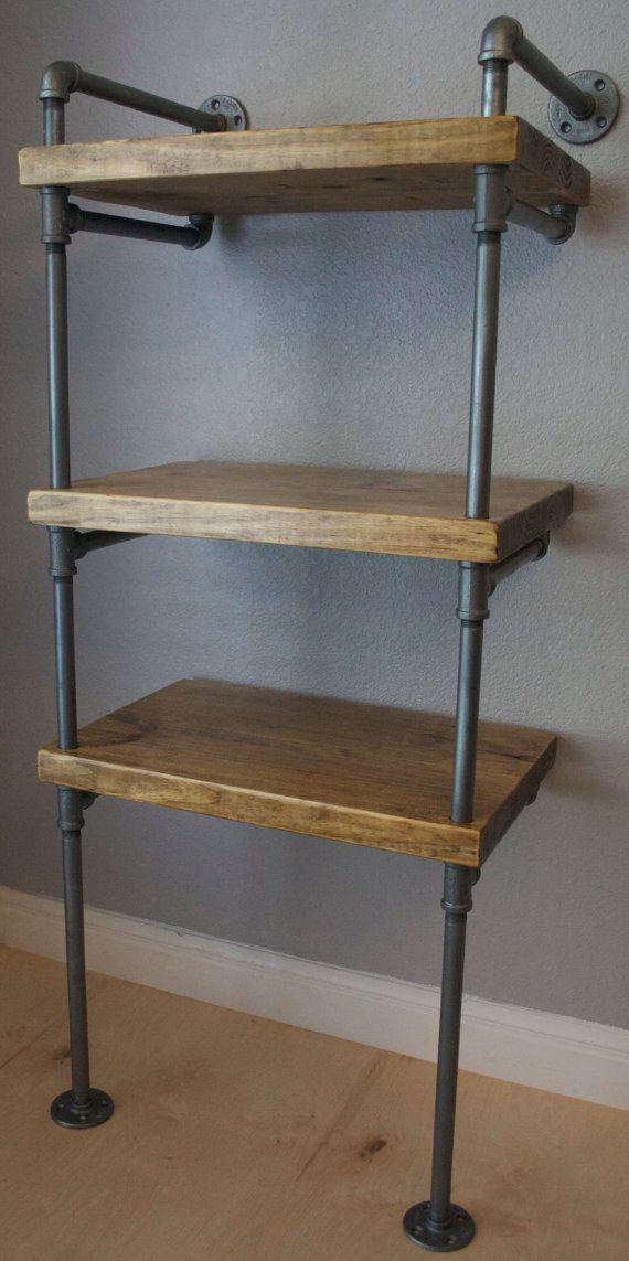 Signature Industrial Pipe Media Shelving by IndustrialEnvy on Etsy, $698.99