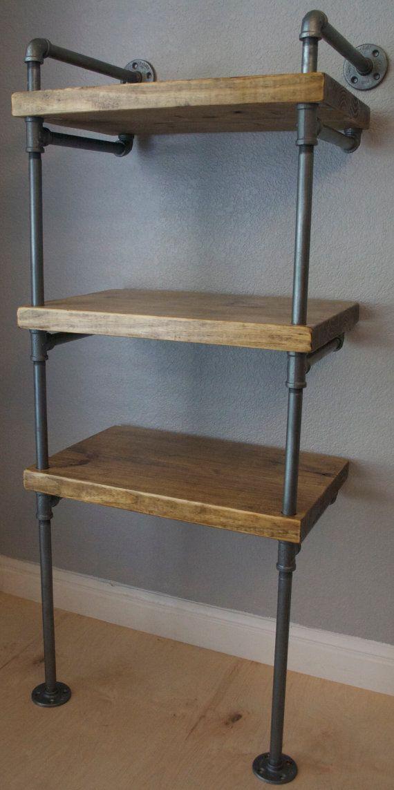 signature industrial pipe media shelving. Black Bedroom Furniture Sets. Home Design Ideas