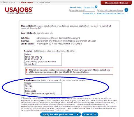 resume example usa jobs