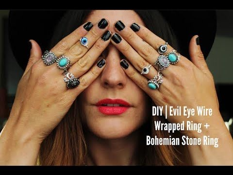 Because who doesn't love a good ring?! I have been obsessed with stones, the evil eye sign, and anything bohemian recently, so I just had to re-create some d...