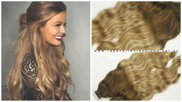 Light Brown To Blonde Foiled  Ombre Balayage Hair Extensions Russian Grade Hair Extensions  6/22/6  www.tapehairextensions.net.au