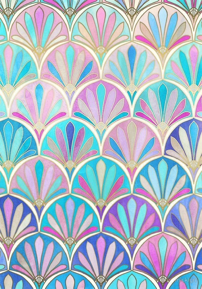 Glamorous twenties art deco pastel pattern by micklyn for Art deco colours