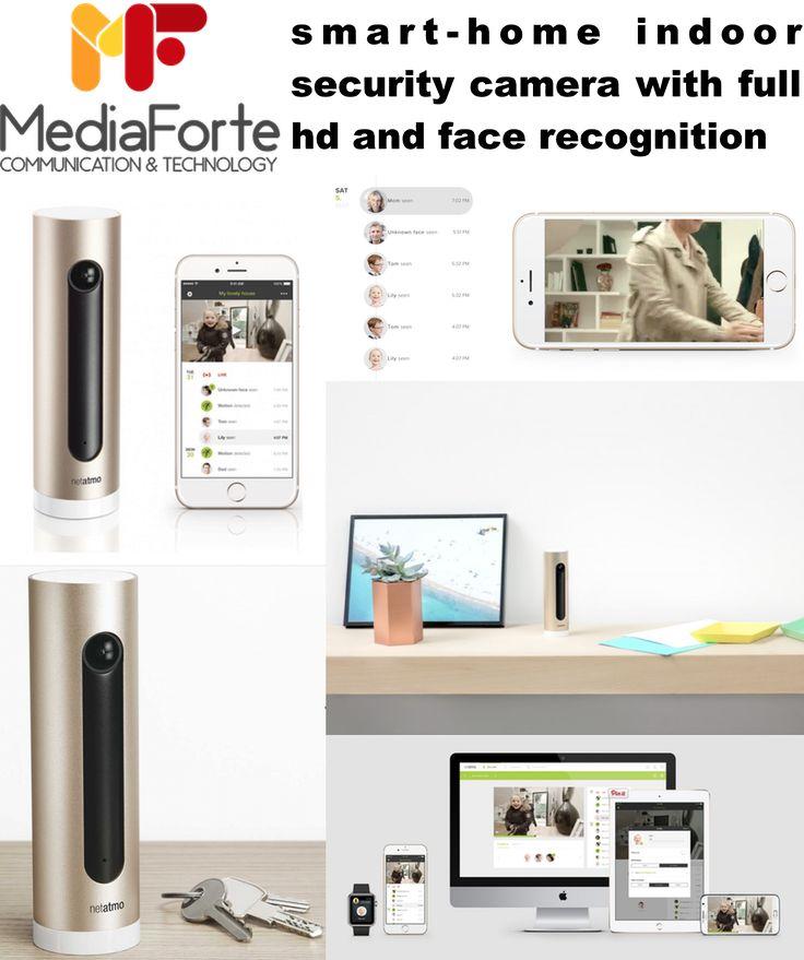Security camera for smartphones & tablets  Mobile Full-HD Heimkamera mit Gesichtserkennung & Steuerung über Ihr Smartphone oder Tablet