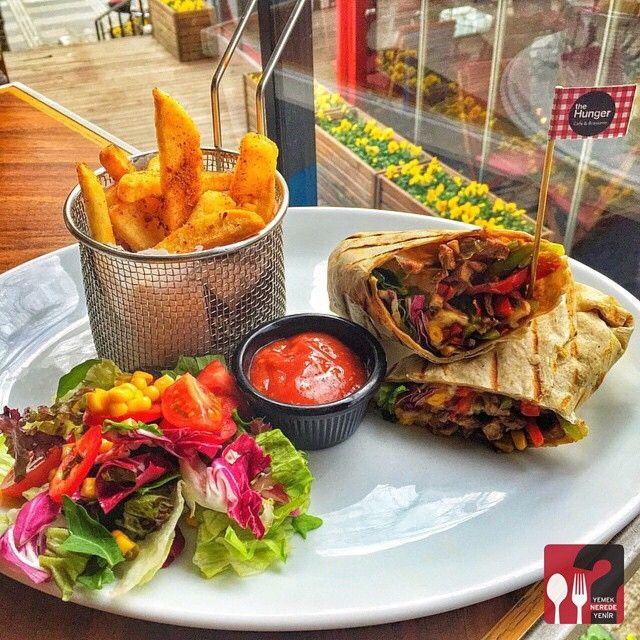 Steak Wrap - The Hunger Cafe & Brasserie / Bulvar 216 Ataşehir, Gayrettepe İstanbul   Çalışma Saatleri 10:00 - 02:00  ☎ Ataşehir 0 216 688 80 00  29 TL @thehungerr