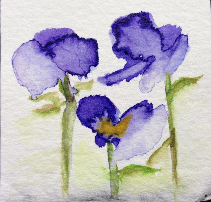 Loose Watercolor Flowers Loose Watercolor Watercolor