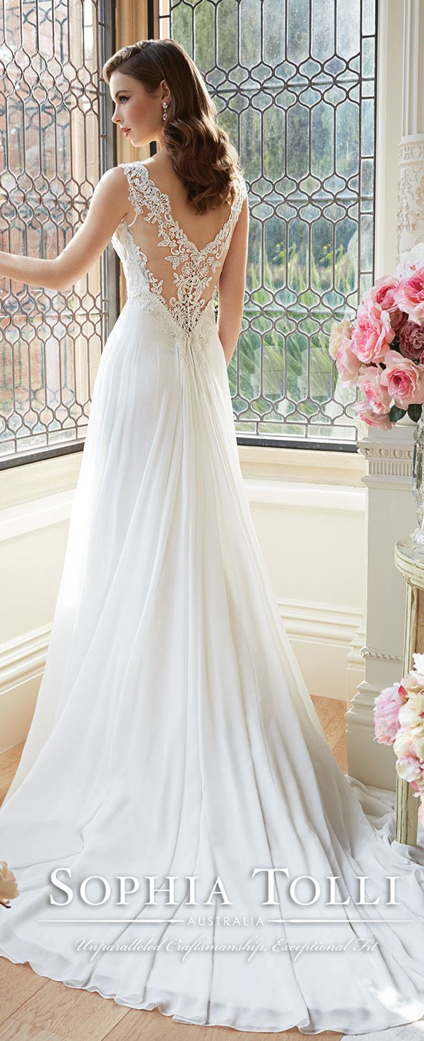 sophia tolli spring 2016 bridal gowns with illusion back views Y11633