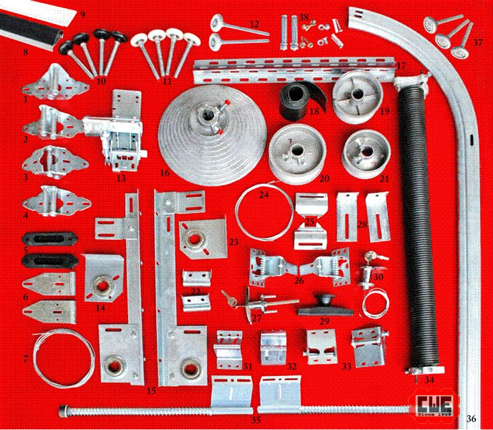 Accessories  #hinges #cabledrum #nylonrollers #tracks #cable #spring #lock #brackets #screws #nail #installation #door #industrialdoor #safe #warehouse #accessories #engineering  Find us: sales@chinawingeng.com.hk/ (+61) 434 970 408