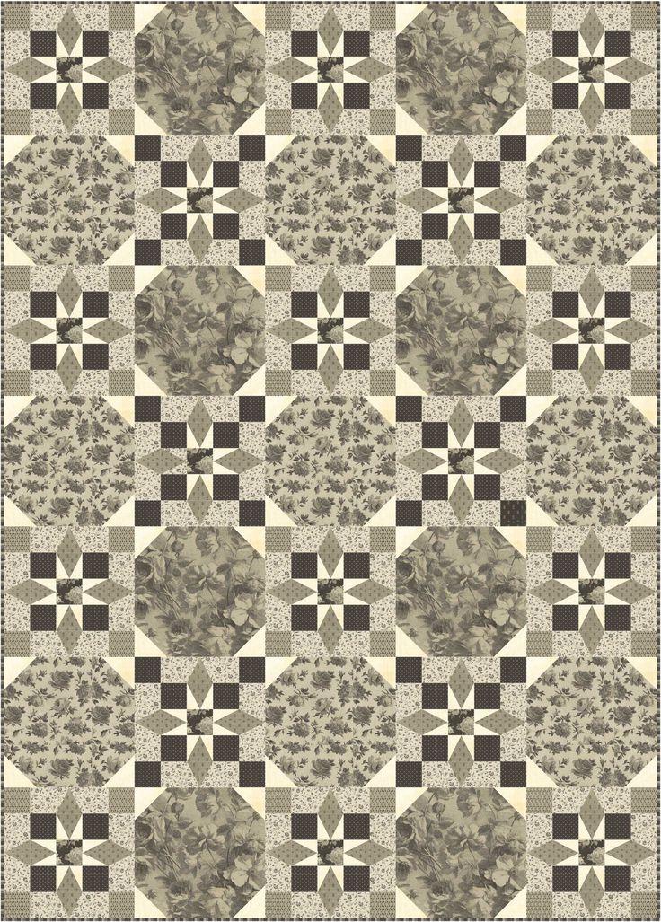 Free pattern broken chain using windhams shades of grey